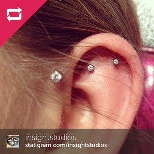 Graduated Helix and Rook Piercings | 28 Adventurous Ear Piercings To Try This Summer