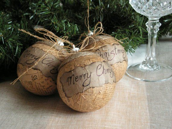 35 Rustic DIY Christmas Ornaments Ideas