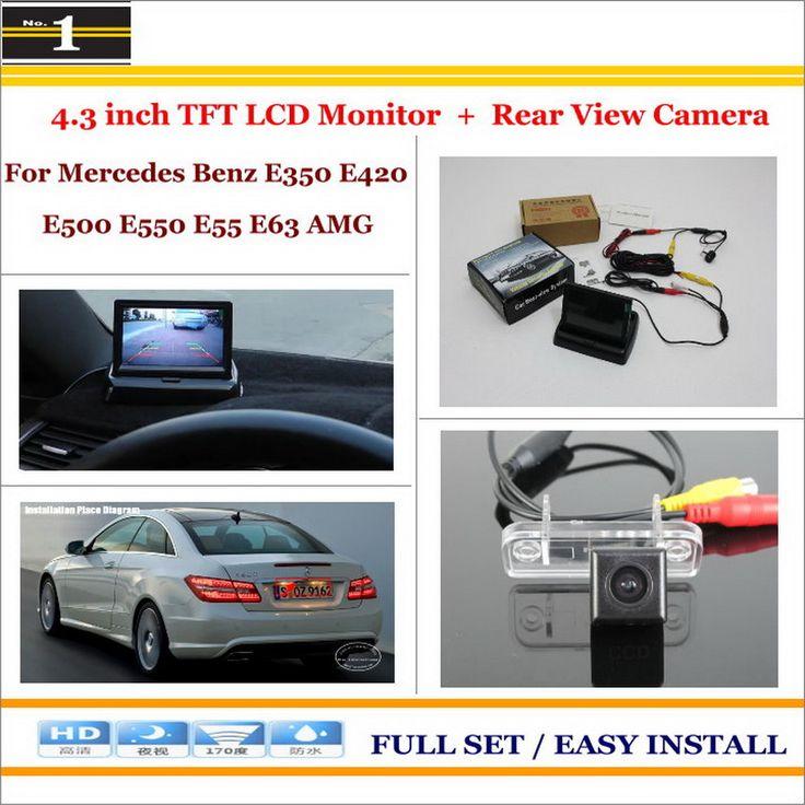 "Car Rear Camera + 4.3""TFT LCD Screen Monitor = 2 in 1 Back Up Parking System - For Mercedes Benz E350 E420 E500 E550 E55 E63 AMG"