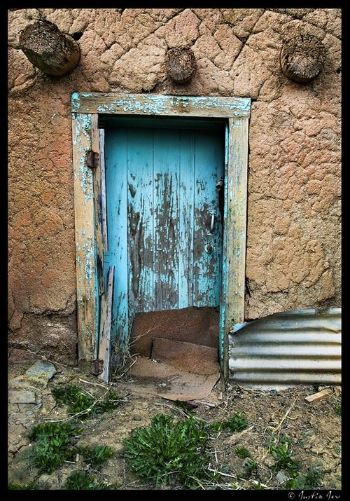 """""""In the universe, there are things that are known, and things that are unknown, and in between, there are doors."""" ~ William Blake (Photo: Taos, NM)"""