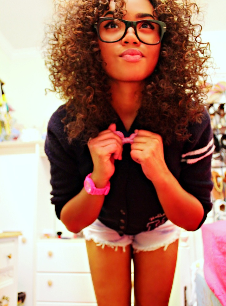 curly with glasses