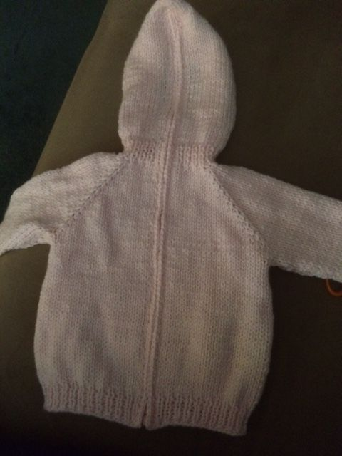 Pattern for hooded back zipping baby sweater