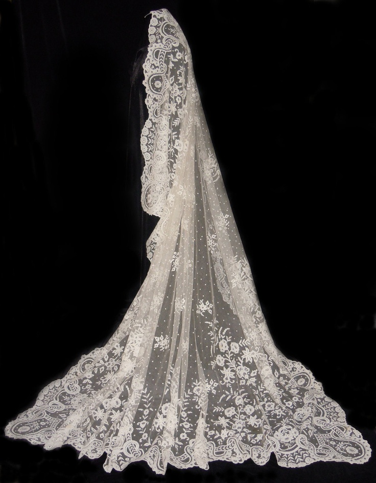 Antique IRISH CARRICKMACROSS Lace Wedding Veil Shawl. $5,500.00, via Etsy. I'd not spend the money for it, but WOW is this amazing!!!! I'd be scared I'd ruin it!
