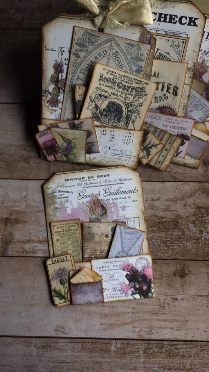 Thistle Receipt Pocket Tags | My Porch Prints