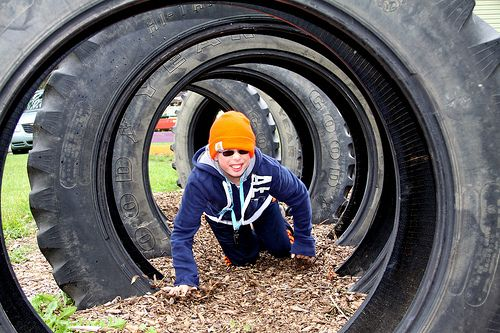 Tire playground google search gardening pinterest for Tire play structure