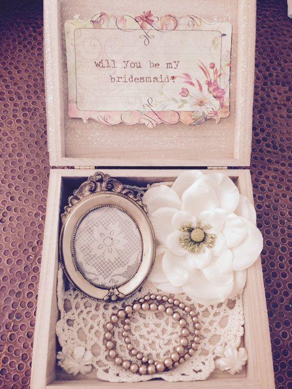 The 25 best Bridesmaid invitation box ideas on Pinterest