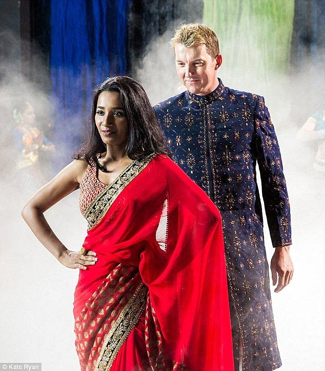 Going global: Brett Lee's film unIndian, also starring Indian actress Tannishtha Chatterjee, will premiere in the country on August 19, before being screened in the Middle East as well