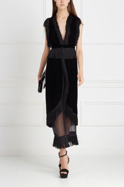 Бархатное платье Alexander Arutyunov - Идеальное платье из черного бархата в интернет-магазине модной дизайнерской и брендовой одежды