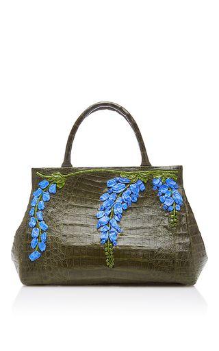 Floral Embellished Shoulder Bag by NANCY GONZALEZ for Preorder on Moda Operandi