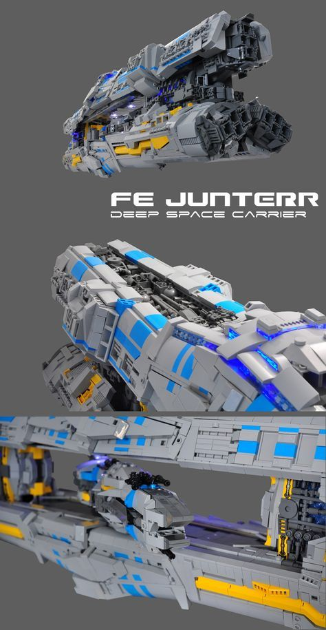 https://flic.kr/p/y744x6 | FE JUNTERR | The JUNTEER class deep space carriers are the FE's workhorses, acting as glorified boosters and mobile colonies. Equipped with SlipStreamSkip drive and their large hangar, they're the only choice to transporting frigates and corvettes outside of the Tannhäuser ring network. They can be deployed in long term maneuvers, or engage in continual skip distance ferrying of ships. Though unarmed, they depend on the armaments of their 'belly ships' to pr...