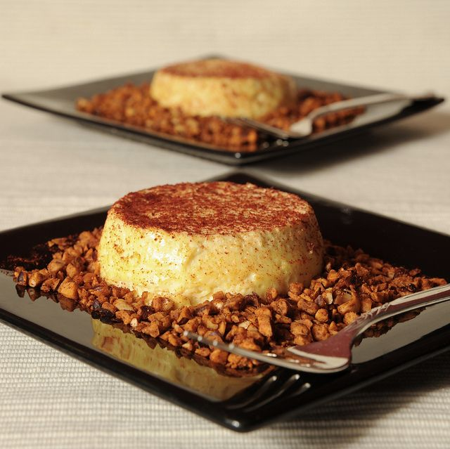 Parmigiano Reggiano Custards with Toasted Spiced Hazelnuts