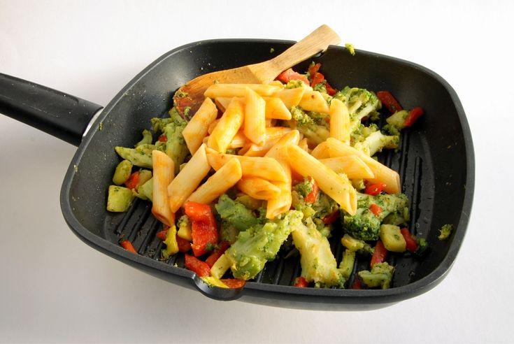 pates complètes et légumes