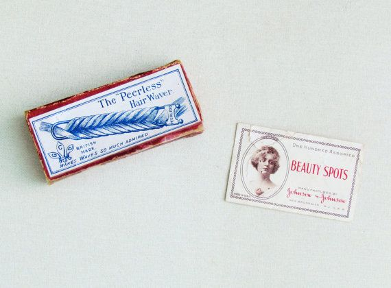 "Antique hair waving pins, the ""Peerless Hair Waver"", early 1900's hair styling tool, hair styling collectible, vanity collectible"