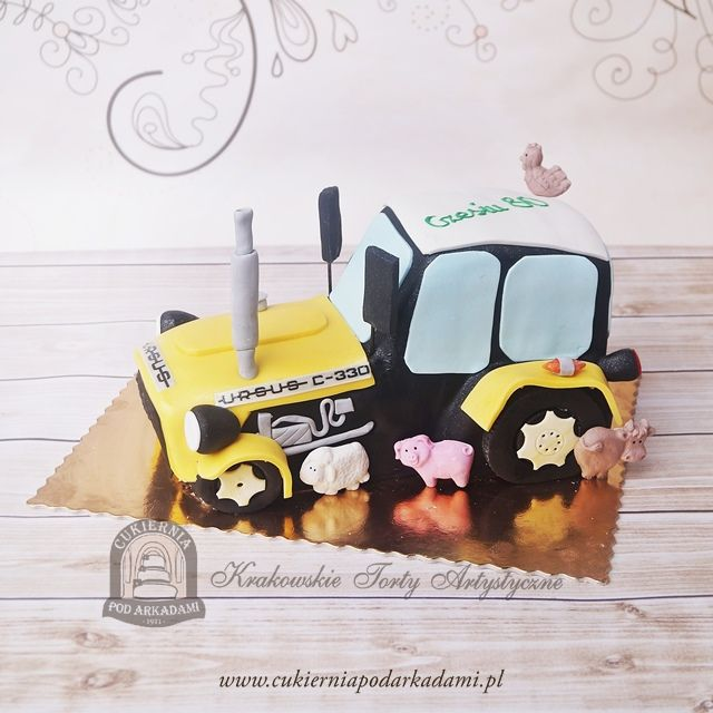 74BA. Traktor Ursus C-330. Tractor-shaped birthday cake – Ursus C330.