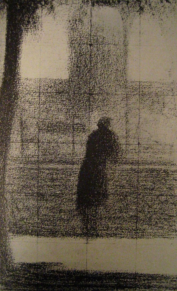 """Georges Seurat: """"L'invalide"""" (The Invalid), 1879–1881. Pastel on wove paper"""