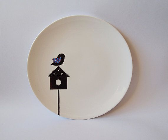 Bird house small plate . Zuppa Atelier . $30.00