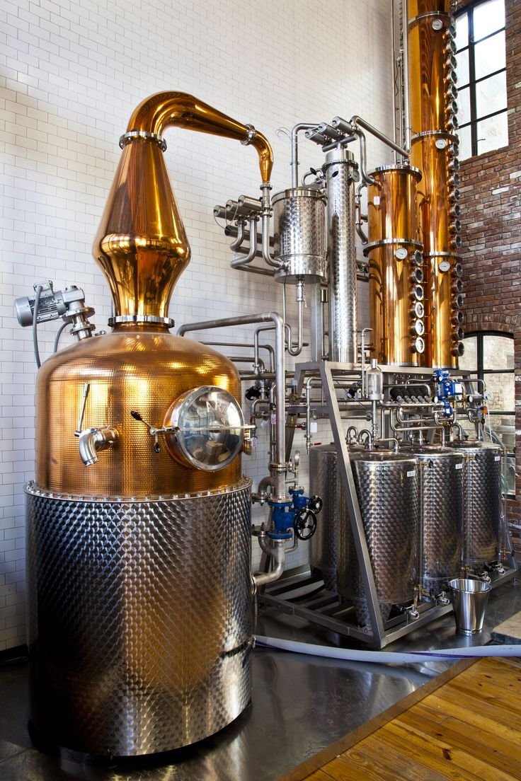 Distillation tanks are just so pretty.