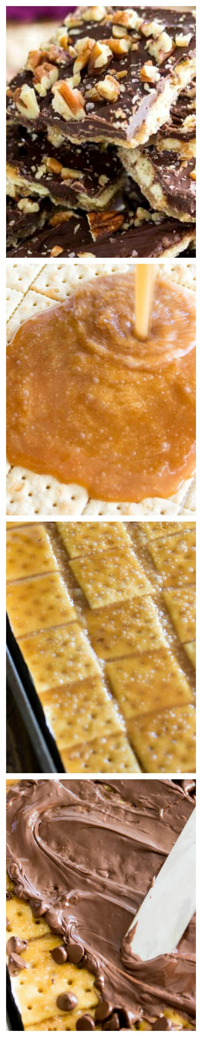 Saltine Cracker Candy ~ With just 5 simple ingredients and under 15 minutes to prepare, this saltine cracker candy (saltine toffee) is one of the simplest, quickest candies to make