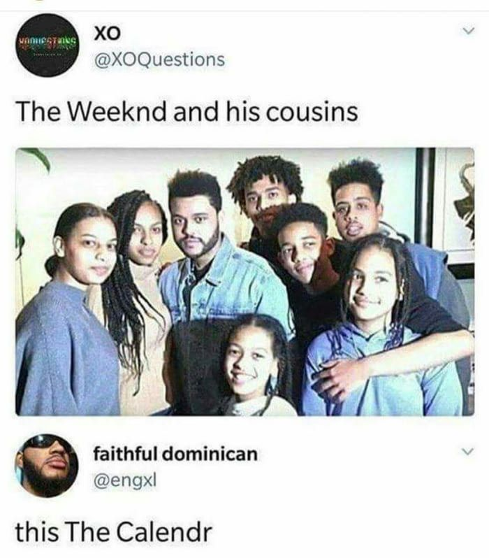 The Weeknd and his cousins