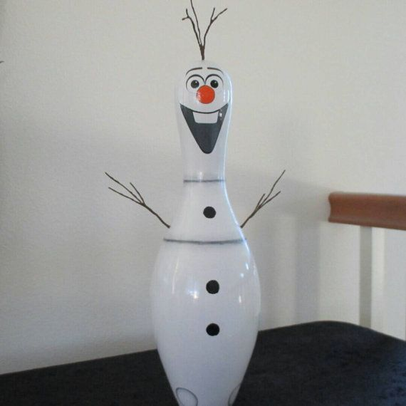 Olaf hand painted bowling pin