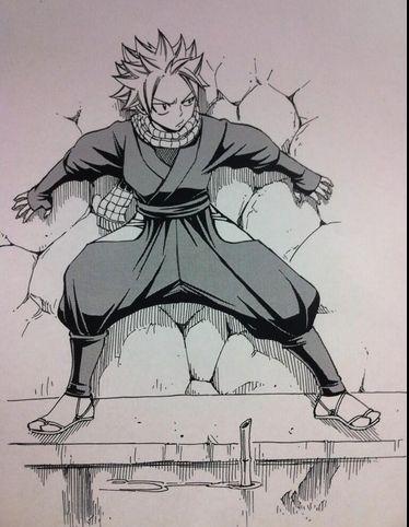 """Natsu the Ninja!!!!!  """"Nin nin!""""   https://twitter.com/hiro_mashima/media/grid"""