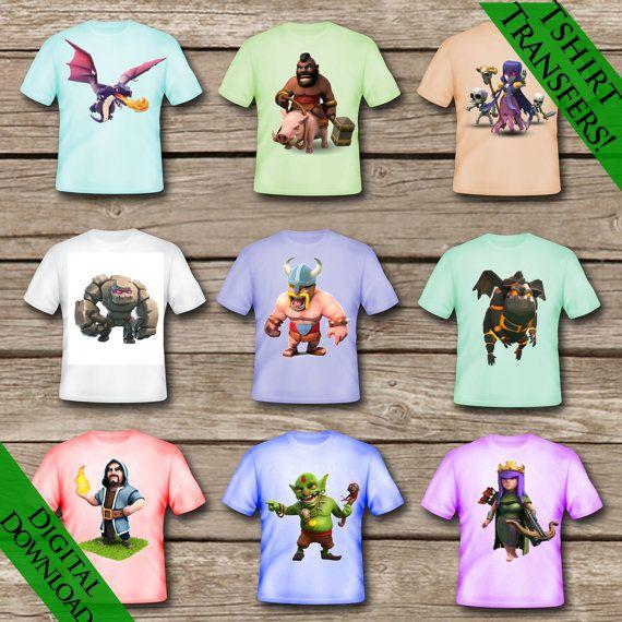 9 choque de Clan para imprimir camisetas Descarga por ClipArt911