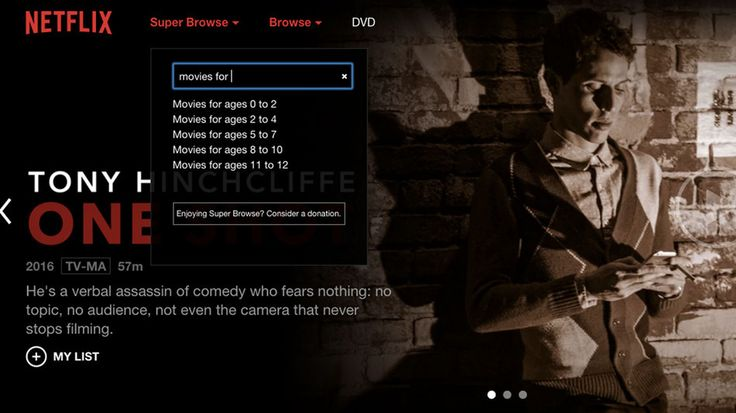 Netflix's secret categories can be more easily browsed with the Super Browse extension for Chrome and add-on for Firefox.