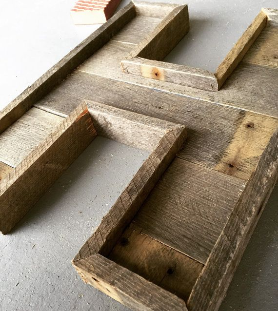 Pallet Letter Rustic Letter Reclaimed Wood by MadeOfShadesCo
