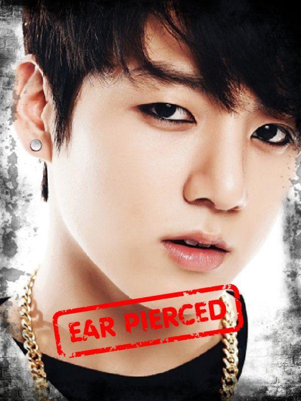 B.T.S JungKook   Kpop Guys Ear Pierce   Ear piercings, Ear ...