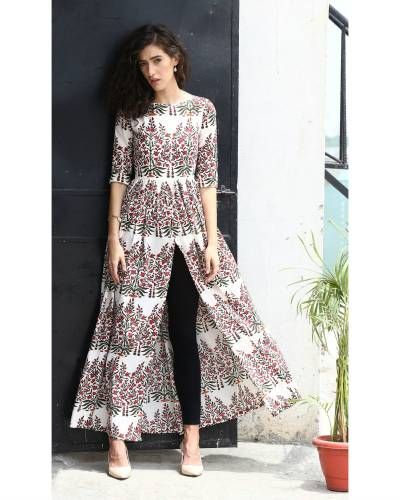 Overall Block Printed Cape | Shop now: www.thesecretlabel.com