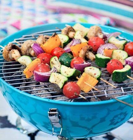 Kryddiga grönsaksgrillspett