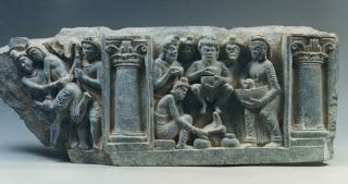 Banquet held in Celebration of the Prince's Birth Gandhara Archives Kurita