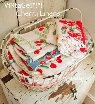 cherry linens in a basket