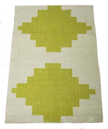 Diamond jute door mat - Image Diamond Green