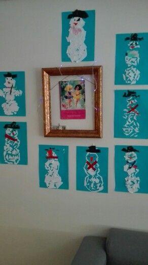 Mosaiikki lumiukot :)