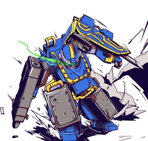 青の騎士系ATは後ろ姿がイケメンなのがいい(描かないけど