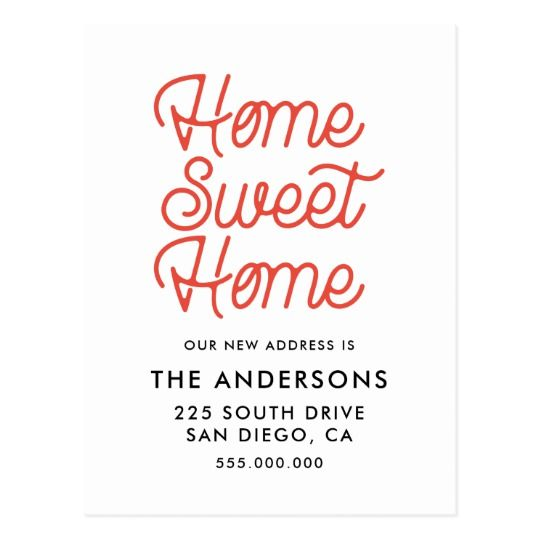 Home Sweet Home Moving Announcement Postcard Zazzle Com