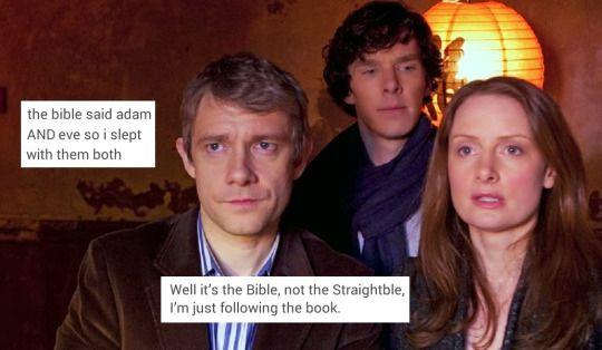 Sherlock looks soo jealous
