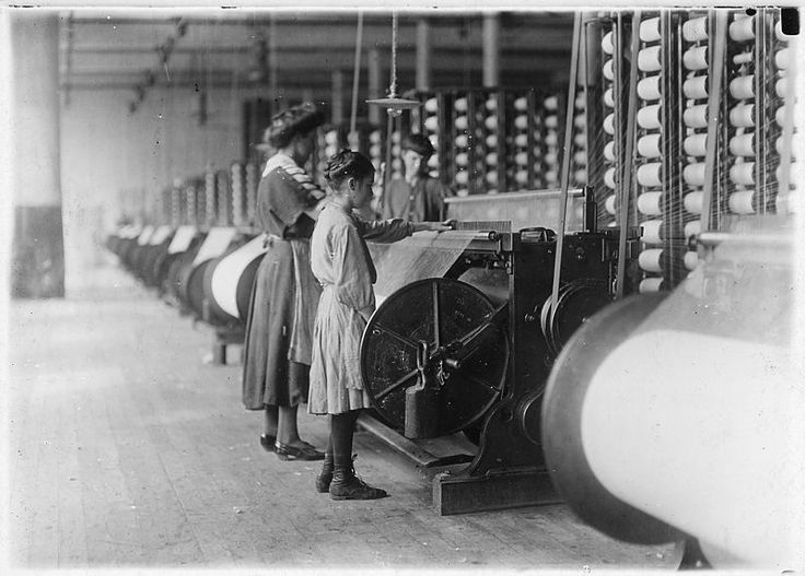 File:Girls running warping machines in Loray Mill, Gastonia, N.C. Many boys and girls much younger. Boss carefully avoided... - NARA - 523104.jpg
