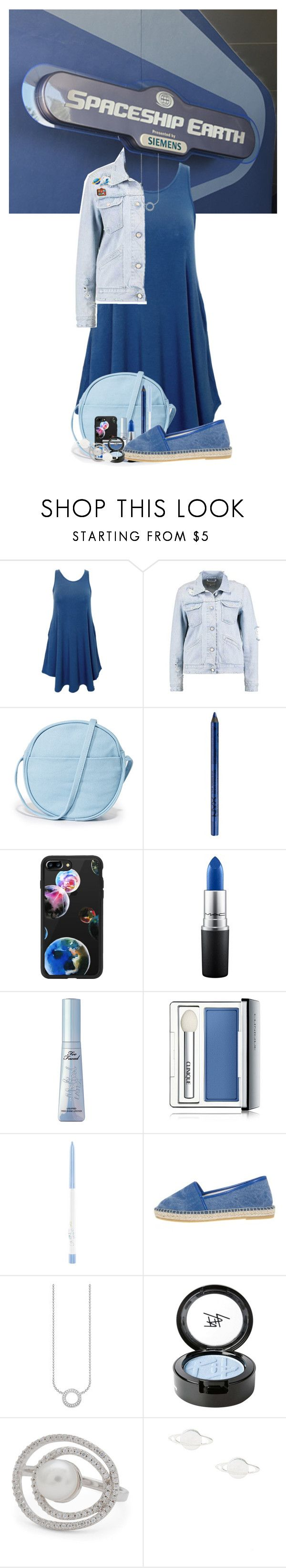 """Spaceship Earth"" by allyssister ❤ liked on Polyvore featuring BAGGU, NYX, Casetify, MAC Cosmetics, Clinique, Thomas Sabo, Beauty Is Life and Mokuyobi Threads"