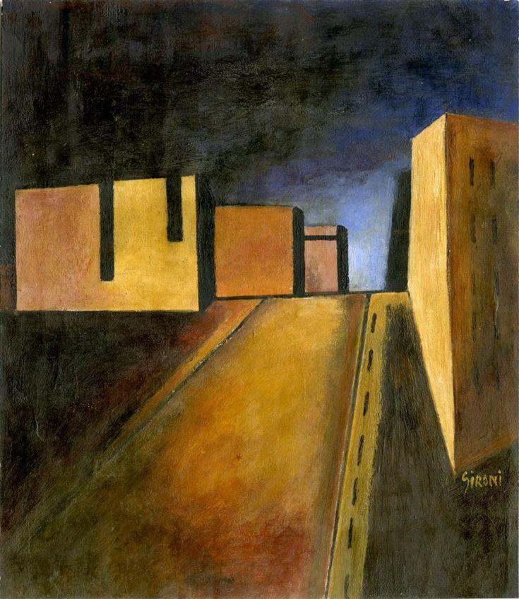 """Mario Sironi (Italian, 1885-1961). """"Casa del Fascio di Bologna"""" 1932"""
