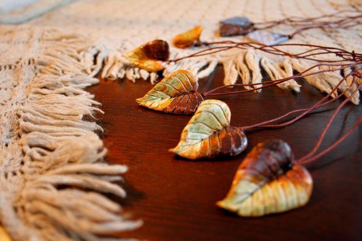 Ceramic jewelry by www.pinterest.com/miiairene