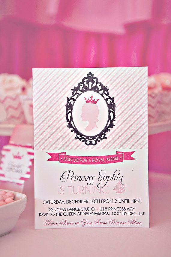 18 best images about Ellas 1st birthday – Diy Princess Party Invitations