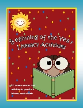 Beginning of the year Literacy activities for classroom Enclosed in this bundle pack are 5 days worth of primary literacy lesson plans, activities and re-producibles