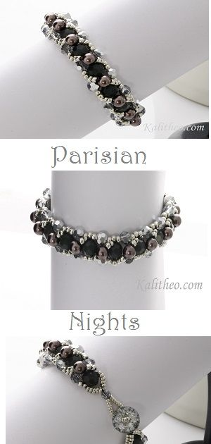 Parisian Nights Bracelet...Bridal, Mother of the bride, Formal, Beaded Bracelet.  kalitheo.com #feelBeautiful #feelglamorous #handmadeinaustralia