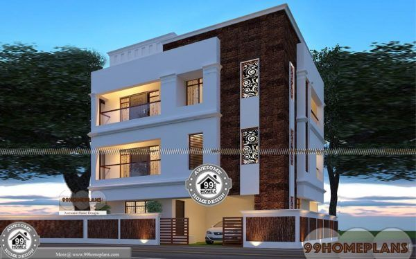 3 Story Home Plans And Designs Apartment Style Modern Flats