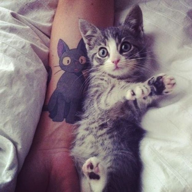 Kittens Inspired By Kittens | 38 Weird Or Wonderful Cat Tatts ... Some of these are pretty good. Some not.