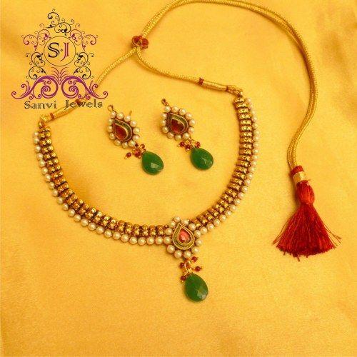 Multicolour Polki  Necklace