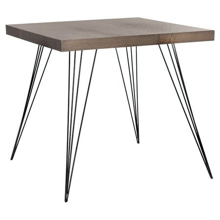 Lend contemporary-chic appeal to your living room or parlor decor with this dark brown accent table, the perfect canvas for a ceramic vase or vignette of fra...
