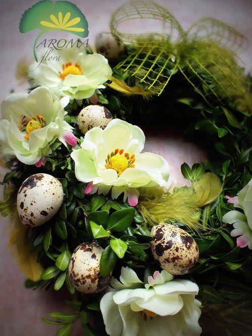 """Jarní věnec - \""""sasanky a křepelčí vajíčka\"""""""